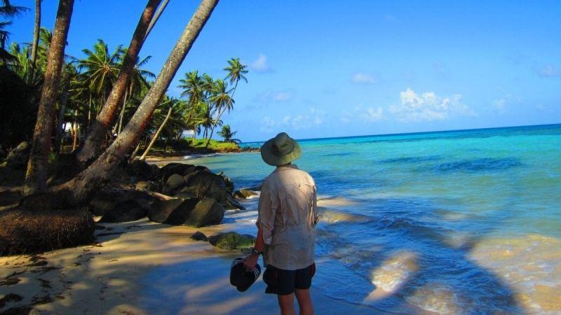 Beach walking on Little Corn Island