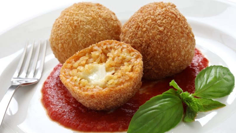 italian food Mozzarella balls