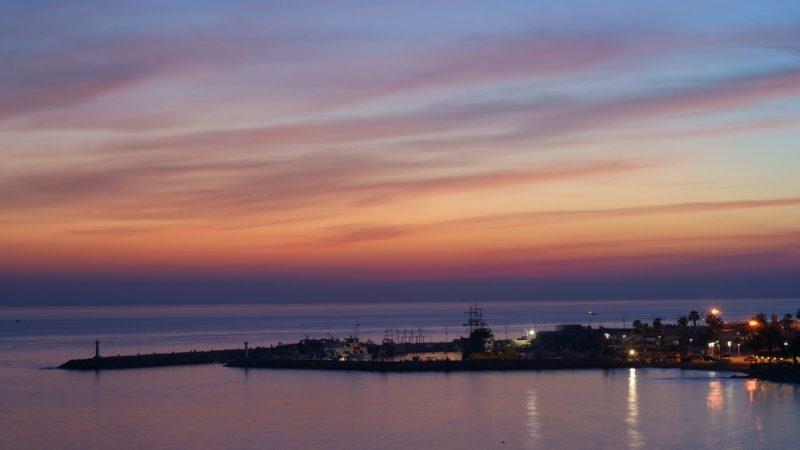 sunset ayia napa, cyprus