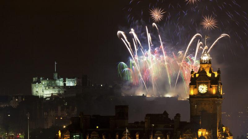 Edinburgh Scotland Fireworks
