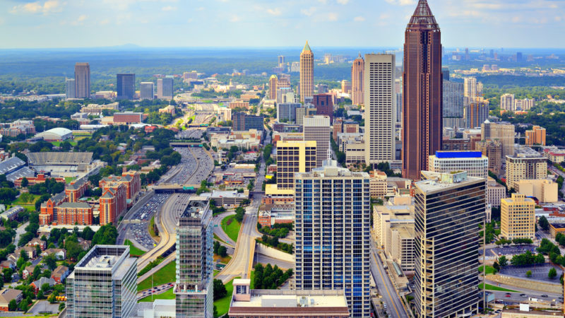 Downtown Atlanta, Georgia, USA skyline