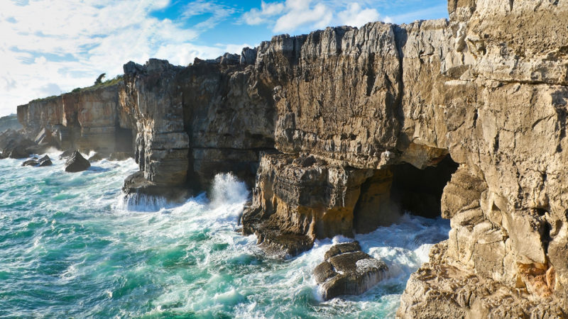 coastline of Cascais, The gates of hell, Portugal.