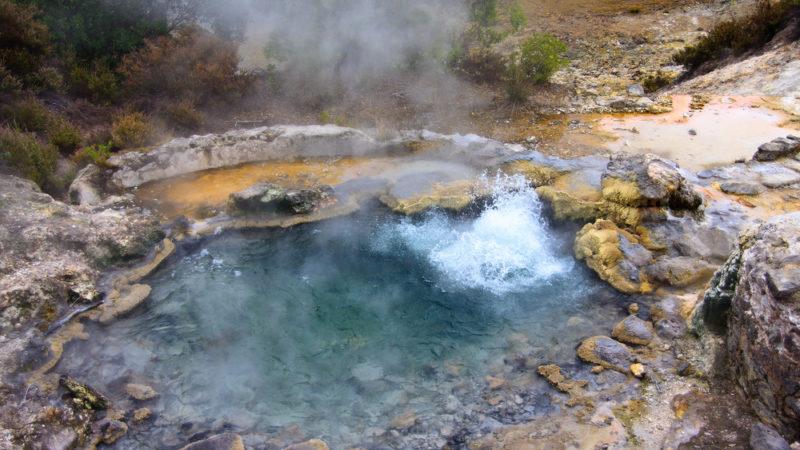 Furnas fumaroles, hot water spring in Sao Miguel, Azores