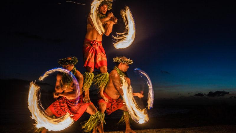 Luau Fire dance