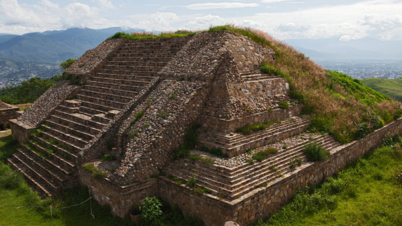 Ruins of Monte Alban Oaxaca Mexico