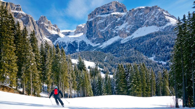 Skiing Italian Alps