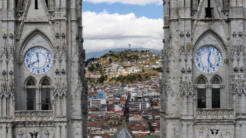 UNESCO old town in Quito Ecuador
