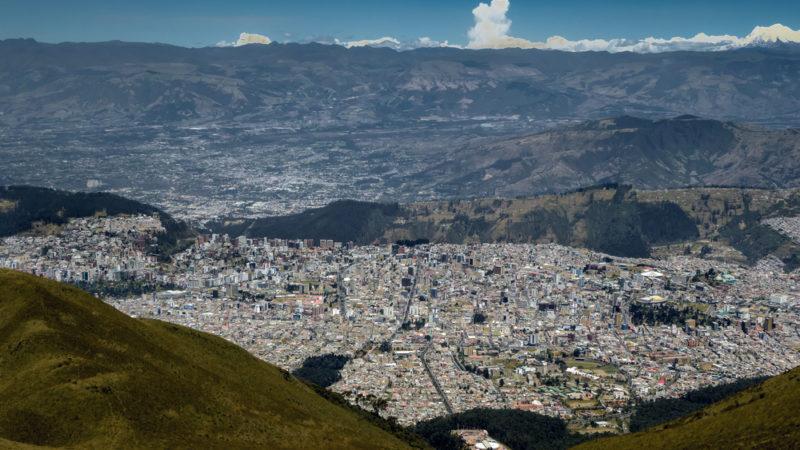 View from TeleferiQo gondola Quito Ecuador
