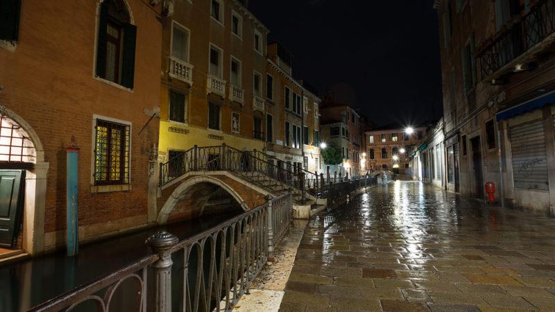 Venice Street Night
