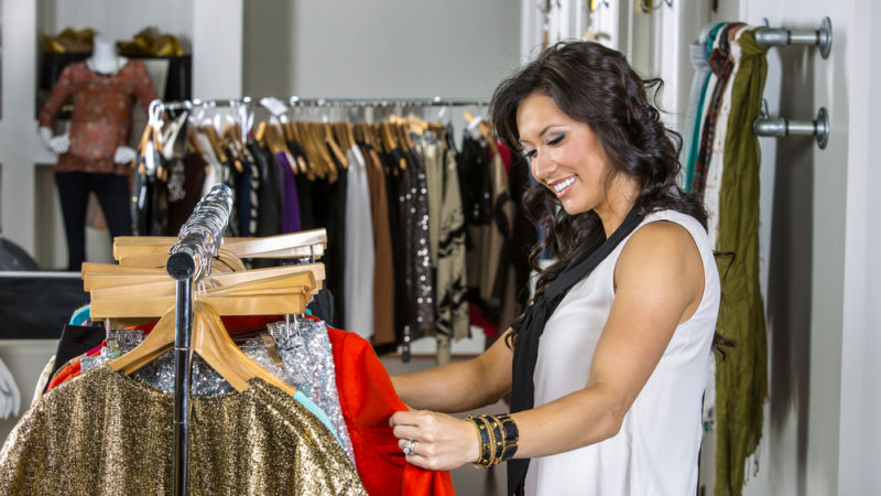 Female shopping