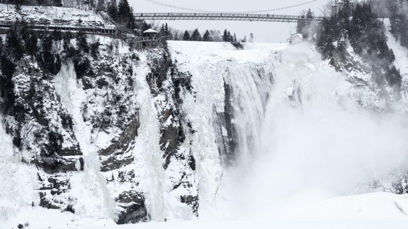 Montmorency Falls Quebec Winter
