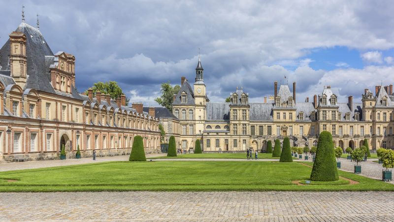 Palace and Park of Fontainebleau France
