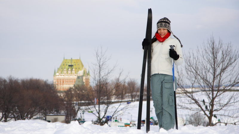 Skiing Plains of Abraham Quebec