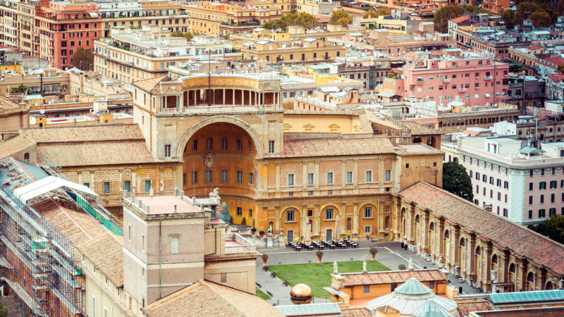Vatican Museums Aerial Rome