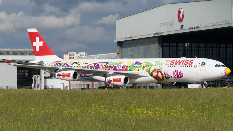 Photo by: Swiss A340-313 HB-JMJ Flower Power