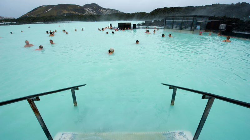People Bathing at Blue Lagoon