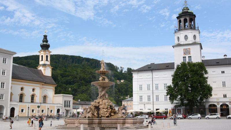 Residenz Square and Fountain, Austria