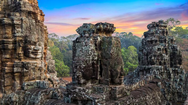 Banyon Temple Angkor Wat Cambodia