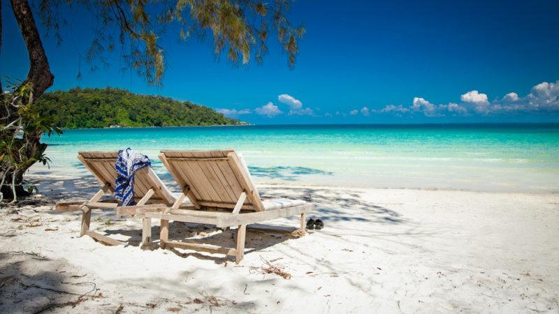 Beach Koh Rong Island Cambodia