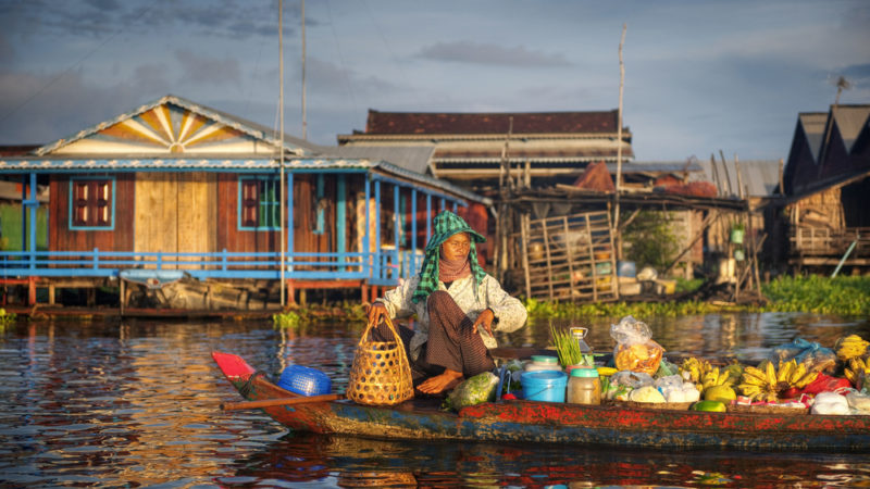 Cambodia Floating Market Seller