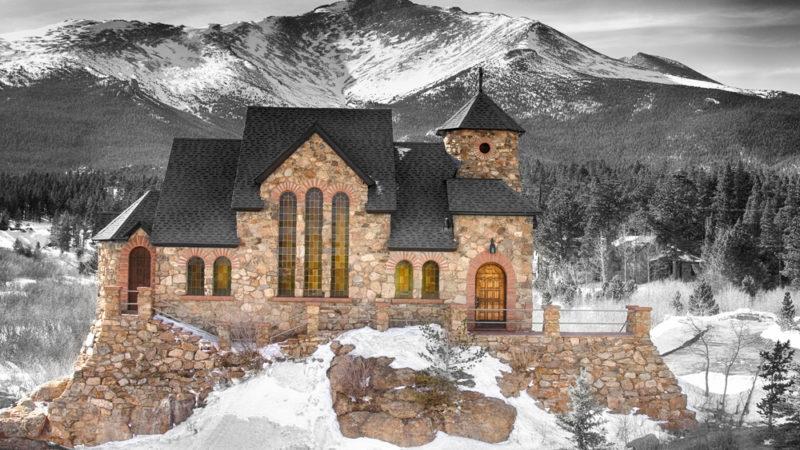 Chapel Colorado Rocky Mountains
