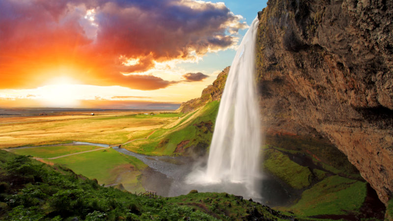 Iceland waterfall