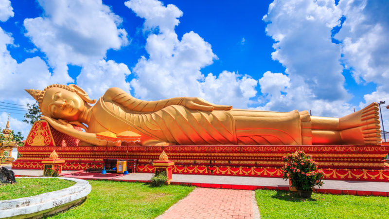 Laos Buddhist statue