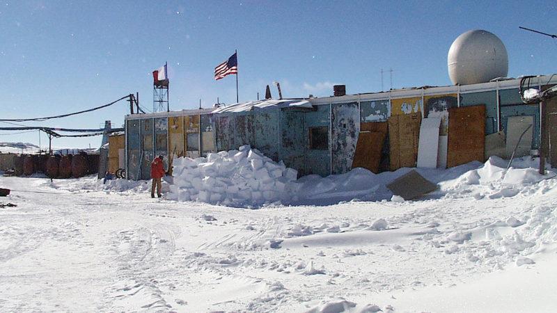"""Russian station Vostok"" by NSF/Josh Landis, employee 1999-2001 - Antarctic Photo Library, U.S. Antarctic Program. Licensed under Public Domain via Wikimedia Commons."