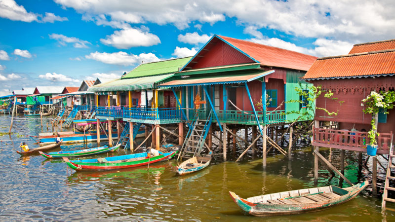 Villages on Tonle Sap Lake Cambodia