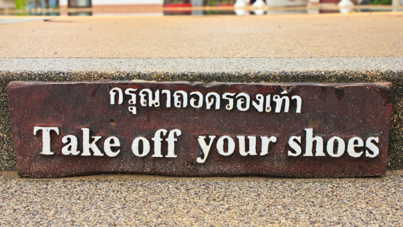shoes off thailand