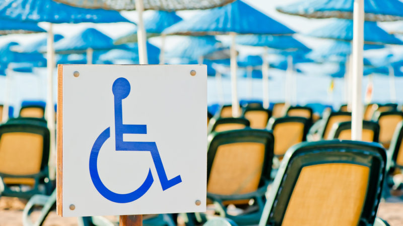 wheelchair accessible beach