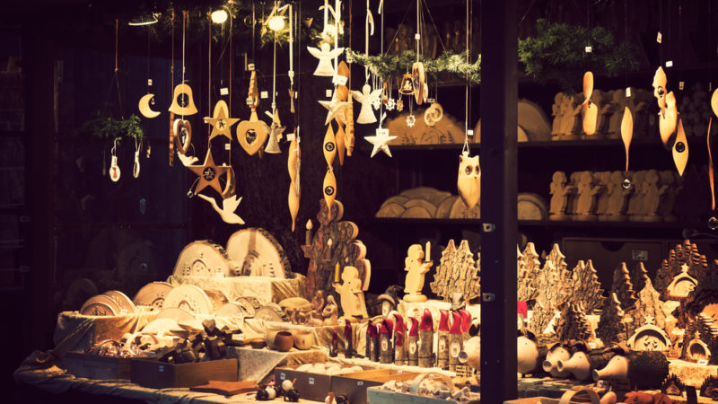 Christmas market london UK