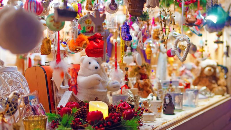 Christmas market vilnius lithuiania