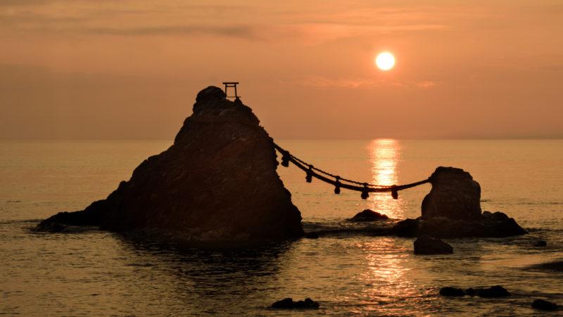 Futamigaura at Dawn (Kunisada)