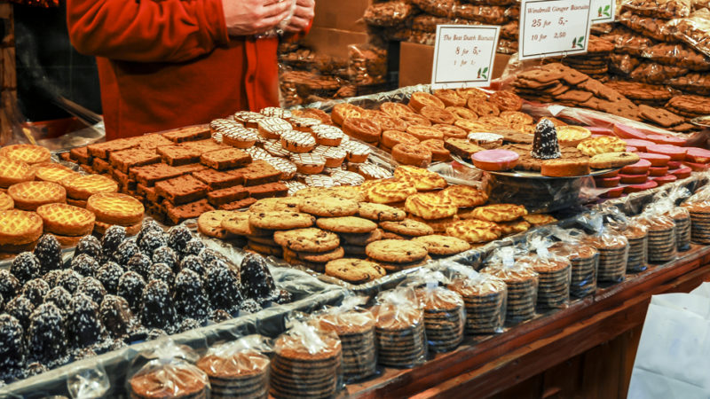 sweets at Christmas market Germany