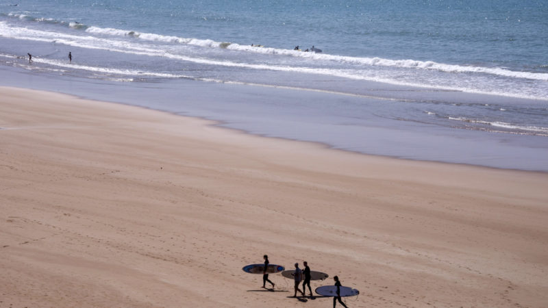 Taghazoute, Morocco surfing
