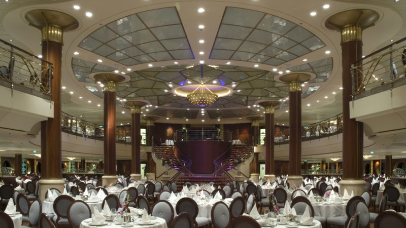 cruise ship dining hall