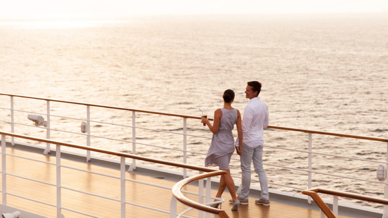 relaxing cruise couple