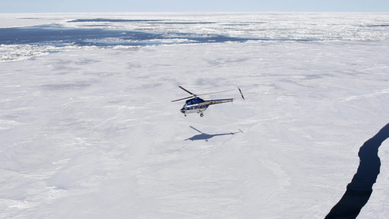 Antarctica helicopter