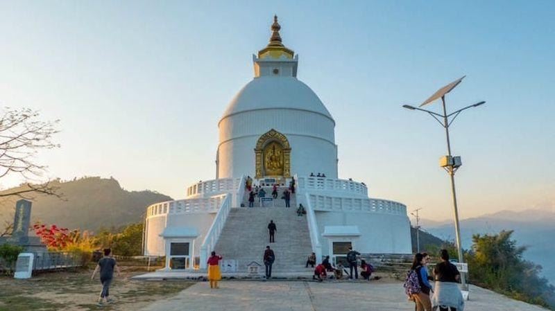 The World Peace Pagoda (Shanti Stupa)