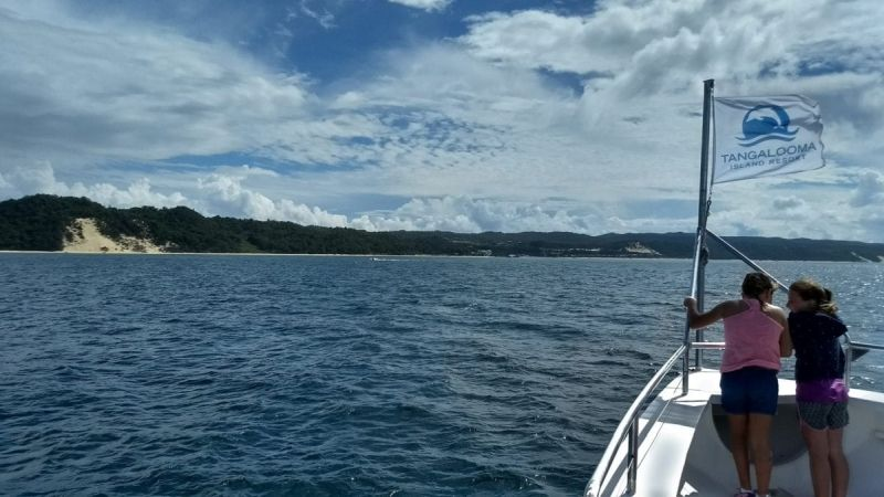 Approaching Moreton Island by ferry