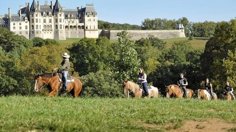 Guided trail ride behind Biltmore House. Photo credit: The Biltmore Company