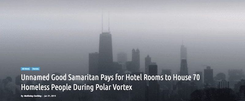 Good Samaritan Candice Payne pays for hotel rooms for homeless during freeze in Chicago