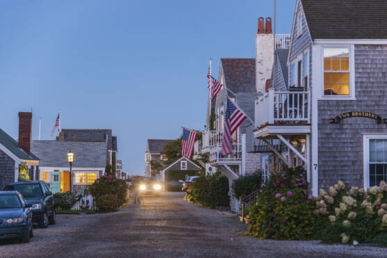 View of Nantucket village
