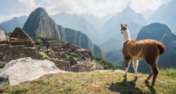 The ancient city of Machu Picchu, Peru.