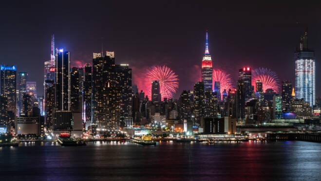 Midtown Manhattan Fireworks - New York