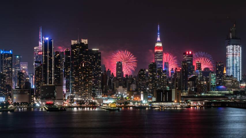 Midtown Manhattan Fireworks - New York