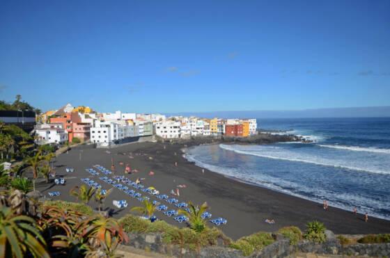 Beautiful beach day in Puerto de la Cruz