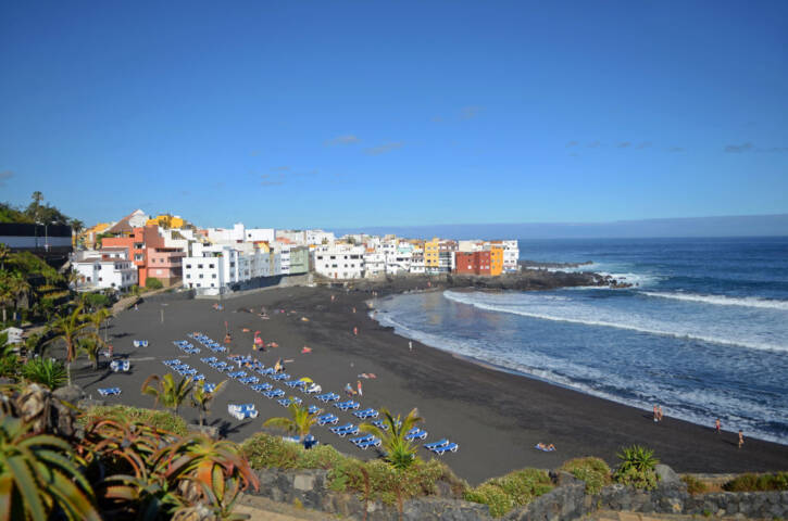 Beautiful beach day in Puerto de la Cruz