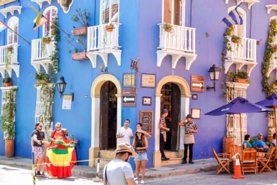 Cuba, restaurant exterior.